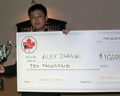 Zhang Wins $10 000 in The Richler Cup